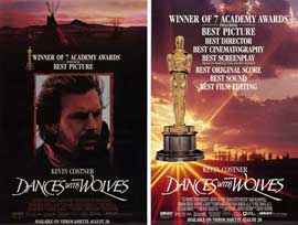 Dances with Wolves - 11 x 17 Movie Poster - Style F