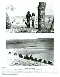 Dances with Wolves - 8 x 10 B&W Photo #12