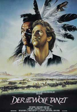 Dances with Wolves - 27 x 40 Movie Poster - German Style A