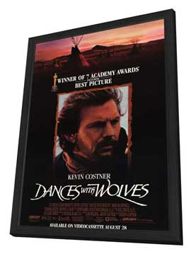 Dances with Wolves - 11 x 17 Movie Poster - Style B - in Deluxe Wood Frame