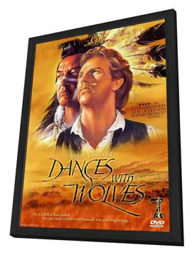 Dances with Wolves - 11 x 17 Movie Poster - Style H - in Deluxe Wood Frame