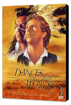 Dances with Wolves - 11 x 17 Movie Poster - Style H - Museum Wrapped Canvas