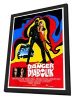 Danger: Diabolik - 27 x 40 Movie Poster - Style A - in Deluxe Wood Frame