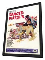 Danger: Diabolik - 27 x 40 Movie Poster - Style C - in Deluxe Wood Frame