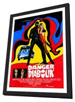Danger: Diabolik - 11 x 17 Poster - Foreign - Style A - in Deluxe Wood Frame