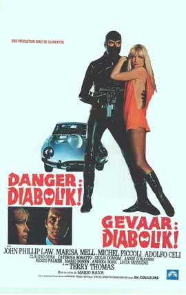 Danger: Diabolik - 14 x 22 Movie Poster - Belgian Style A