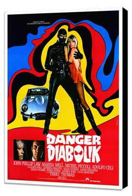 Danger: Diabolik - 27 x 40 Movie Poster - Style A - Museum Wrapped Canvas