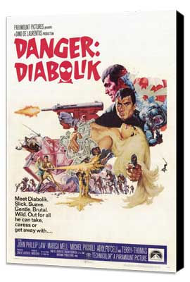Danger: Diabolik - 27 x 40 Movie Poster - Style C - Museum Wrapped Canvas