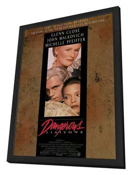 Dangerous Liaisons - 11 x 17 Movie Poster - Style A - in Deluxe Wood Frame