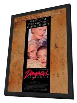 Dangerous Liaisons - 27 x 40 Movie Poster - Style A - in Deluxe Wood Frame