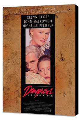 Dangerous Liaisons - 27 x 40 Movie Poster - Style A - Museum Wrapped Canvas