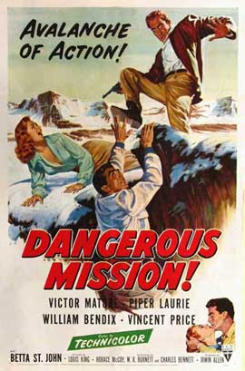 Dangerous Mission - 11 x 17 Movie Poster - Style A