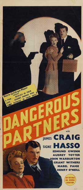 Dangerous Partners - 14 x 36 Movie Poster - Insert Style A