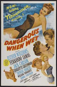 Dangerous When Wet - 43 x 62 Movie Poster - Bus Shelter Style A