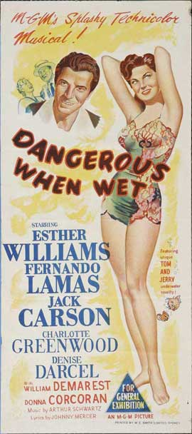 Dangerous When Wet - 13 x 30 Movie Poster - Australian Style A