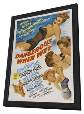 Dangerous When Wet - 27 x 40 Movie Poster - Style A - in Deluxe Wood Frame