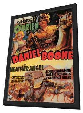 Daniel Boone - 11 x 17 Movie Poster - Style A - in Deluxe Wood Frame