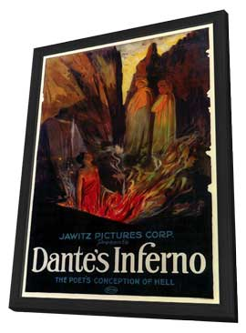 Dante's Inferno - 11 x 17 Movie Poster - Style A - in Deluxe Wood Frame