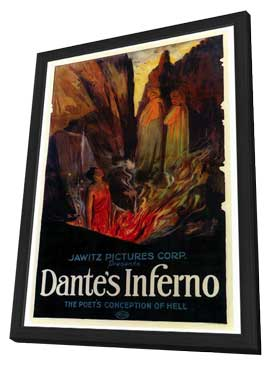 Dante's Inferno - 27 x 40 Movie Poster - Style A - in Deluxe Wood Frame