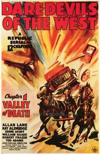 Daredevils of the West - 43 x 62 Movie Poster - Bus Shelter Style A