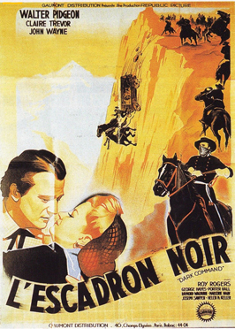 Dark Command - 11 x 17 Movie Poster - French Style A