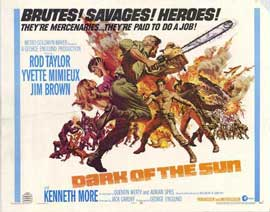 Dark of the Sun - 22 x 28 Movie Poster - Half Sheet Style A