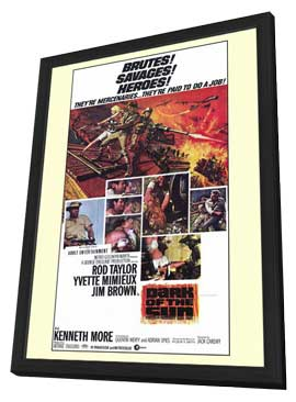 Dark of the Sun - 11 x 17 Movie Poster - Style B - in Deluxe Wood Frame