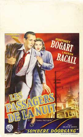Dark Passage - 27 x 40 Movie Poster - Belgian Style A