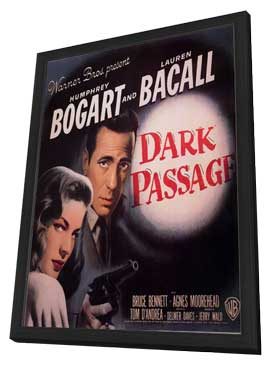 Dark Passage - 11 x 17 Movie Poster - Style D - in Deluxe Wood Frame