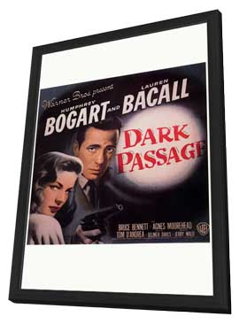 Dark Passage - 27 x 40 Movie Poster - Style D - in Deluxe Wood Frame