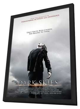 Dark Skies - 27 x 40 Movie Poster - Style A - in Deluxe Wood Frame