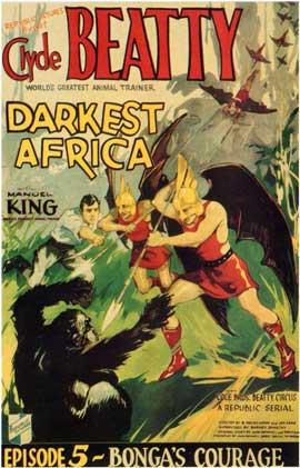 Darkest Africa - 11 x 17 Movie Poster - Style E
