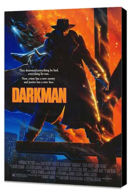 Darkman - 27 x 40 Movie Poster - Style A - Museum Wrapped Canvas