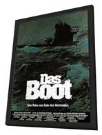 Das Boot - 11 x 17 Movie Poster - German Style E - in Deluxe Wood Frame