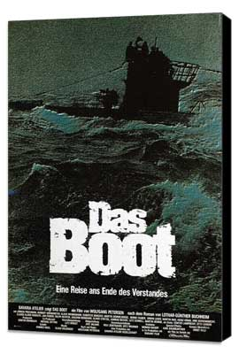 Das Boot - 11 x 17 Movie Poster - German Style E - Museum Wrapped Canvas