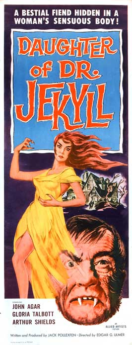 Daughter of Dr. Jekyll - 14 x 36 Movie Poster - Insert Style A