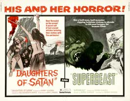 Daughter of Satan/Superbeast - 22 x 28 Movie Poster - Half Sheet Style A