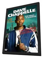 Dave Chappelle: For What It's Worth - 27 x 40 Movie Poster - Style A - in Deluxe Wood Frame