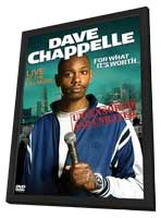 Dave Chappelle: For What It's Worth - 11 x 17 Movie Poster - Style A - in Deluxe Wood Frame