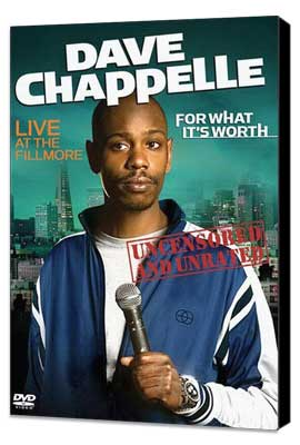 Dave Chappelle: For What It's Worth - 27 x 40 Movie Poster - Style A - Museum Wrapped Canvas