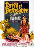 David and Bathsheba - 11 x 17 Movie Poster - French Style A