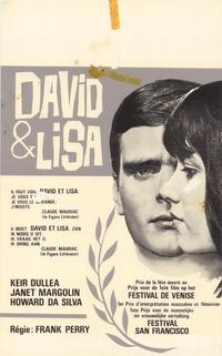 David and Lisa - 11 x 17 Movie Poster - Belgian Style B