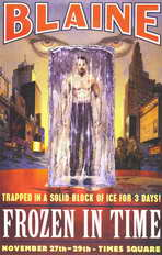 David Blaine: Frozen in Time - 11 x 17 Movie Poster - Style A