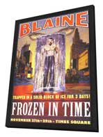 David Blaine: Frozen in Time - 11 x 17 Movie Poster - Style A - in Deluxe Wood Frame