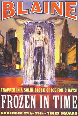 David Blaine: Frozen in Time - 27 x 40 Movie Poster - Style A