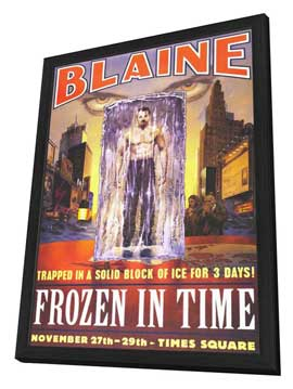 David Blaine: Frozen in Time - 27 x 40 Movie Poster - Style A - in Deluxe Wood Frame