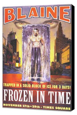 David Blaine: Frozen in Time - 27 x 40 Movie Poster - Style A - Museum Wrapped Canvas