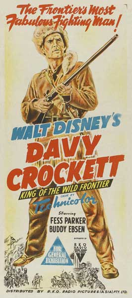 Davy Crockett, King of the Wild Frontier - 13 x 30 Movie Poster - Australian Style A
