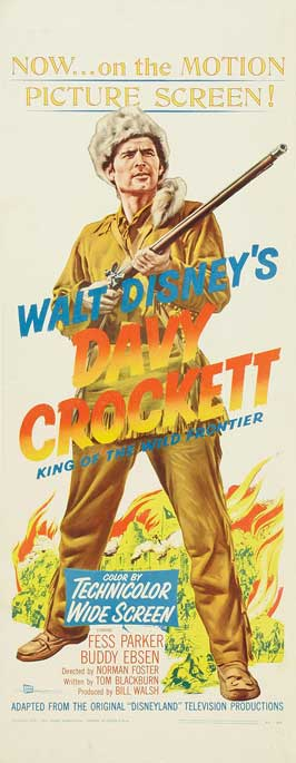 Davy Crockett, King of the Wild Frontier - 14 x 36 Movie Poster - Insert Style A
