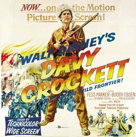 Davy Crockett, King of the Wild Frontier - 30 x 30 Movie Poster - Style A